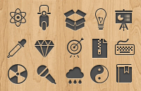 Link to350 free vector web icons psd