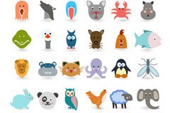 Link to36 section of cartoon animals vector