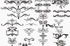 Link to38 black patterned lace vector