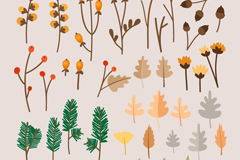 Link to39 branches and leaves design vector