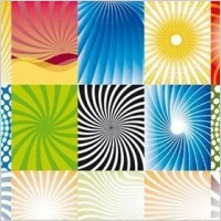 Link to39 free vector beams and rays backgrounds