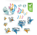 Link to3d audio video icon