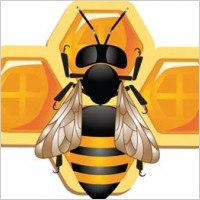 Link to3d bee and honeycomb vector, bee ai, adobe illustrator bee vector, animal illustrator vector ai, 3d illustrator vector