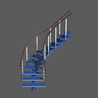 Link to3d blue fashion stairs