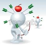 Link to3d cartoon character vector