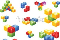 Link to3d color cube vector