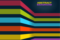 3d color ribbon background vector