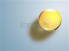 Link to3d crystal texture yellow dazzling glass ball stereo psd