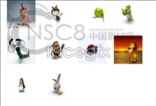 Link to3d cute animal icons