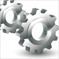 Link to3d gear vector mechanical element icon, 3d vector icons. mechanical vector, gear vector ai adobe illustrator