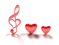 Link to3d heart-shaped note picture material