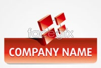 Link to3d logo icons vector graphics