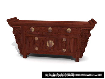 Link to3d model of chinese solid wood cabinets retro