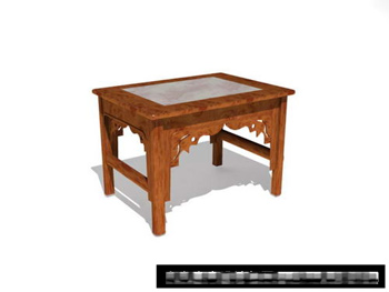 Link to3d model of chinese wood bench