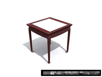 Link to3d model of chinese wooden bench