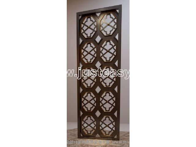 Link to3d model of chinese wooden window grilles (including materials)