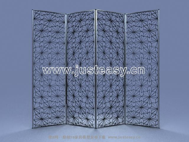 Link to3d model of european british iron screen (including materials)