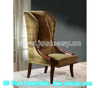 Link to3d model of european high chairs