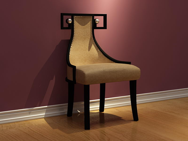 Link to3d model of leather chair alternative (including materials)