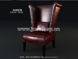 Link to3d model of leather chairs european count (including materials)