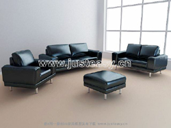 Link to3d model of leather sofa business combination (including materials)