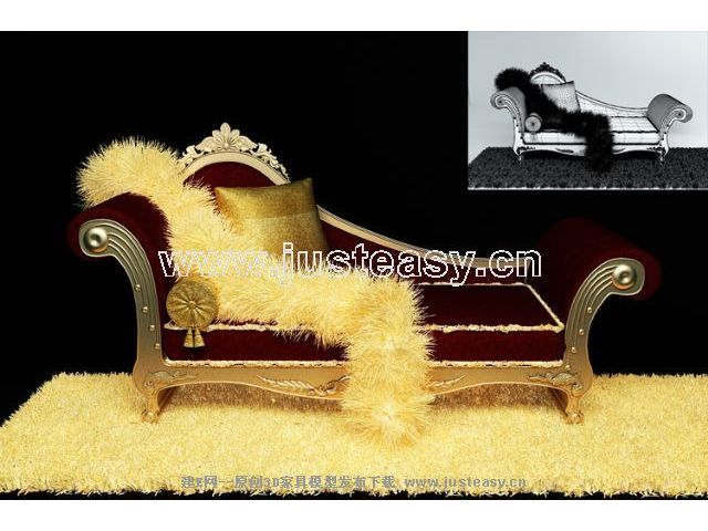 Link to3d model of luxury chaise longue (including materials)