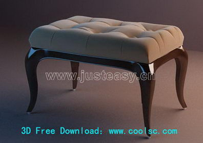 Link to3d model of sofa stool (including materials)
