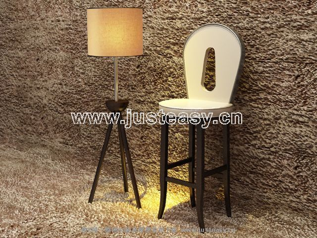 Link to3d model of tall bar chairs (including materials)
