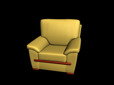 Link to3d model of the old yellow sofa