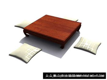 Link to3d model of wood couch table