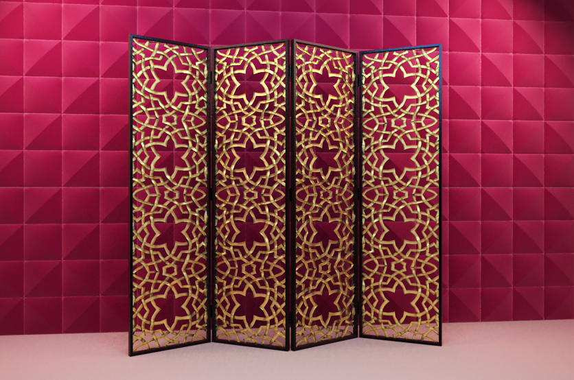 Link to3d model of wooden fine carved screen