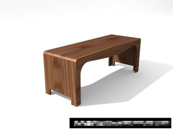 Link to3d models of small craft wood bench