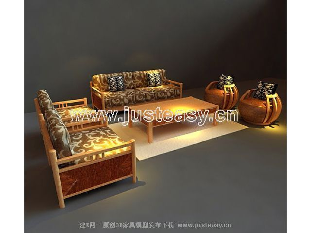 Link to3d models of solid wood furniture in southeast asia (including materials)