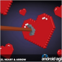 Link to3d pixel heart and arrow