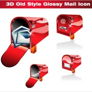 Link to3d red mail icons vector graphics free