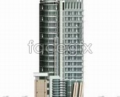 Link to3d renderings of high-rise building tall buildings in source files psd