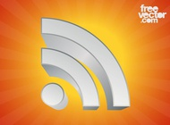 Link to3d rss symbol graphics vector free