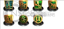 3d stereoscopic software icons