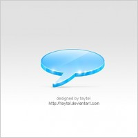 Link to3d talk icon free psd