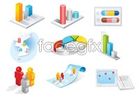 Link to3d texture technology icon vector
