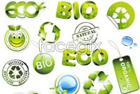 Link to3d vector icons green