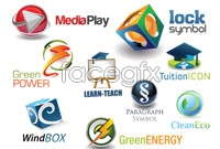 Link to3d web logo design vector