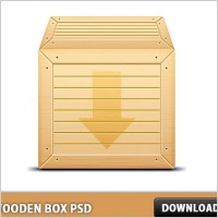 Link to3d wooden box free psd