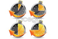 Link to4 a clock icon vector