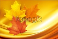 Link to4 autumn leaves vectors map