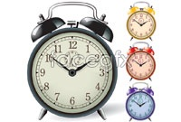 Link to4 beautiful alarm clock vector