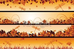 Link tovector banner autumn beautiful 4