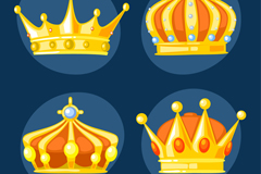 Link to4 beautiful crown design vector graph