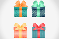 Link to4 beautiful gift box design vector graph