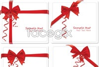 Link to4 beautiful ribbon bow vector map